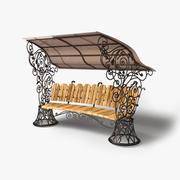 花园长凳 3d model