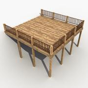 Wooden Terrace 3d model