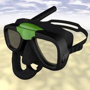 Máscara de pesca submarina modelo 3d