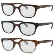3つの素材のメガネ 3d model