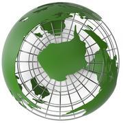 Dünya Haritası Stilize Modeli 3d model