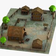 Cartoon boerderij 3d model
