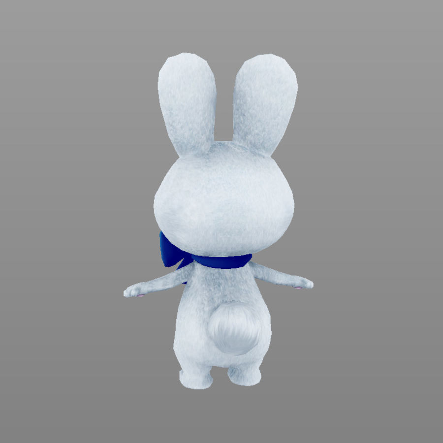 rabbit, mascot of the Winter Olympics in Sochi royalty-free 3d model - Preview no. 6