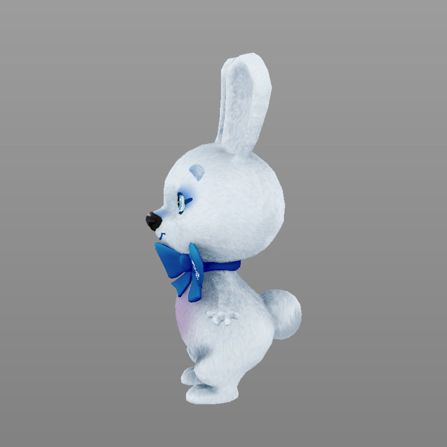 rabbit, mascot of the Winter Olympics in Sochi royalty-free 3d model - Preview no. 7