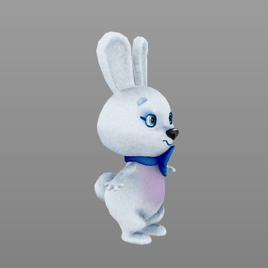 rabbit, mascot of the Winter Olympics in Sochi royalty-free 3d model - Preview no. 2