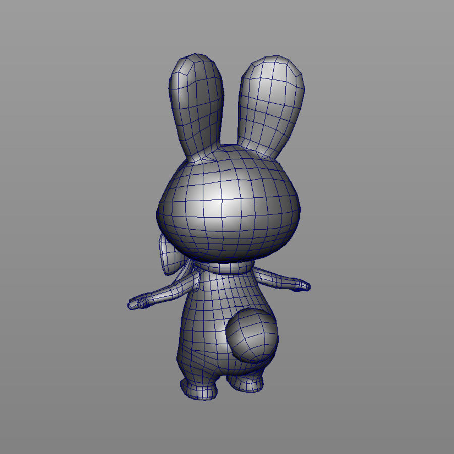rabbit, mascot of the Winter Olympics in Sochi royalty-free 3d model - Preview no. 3