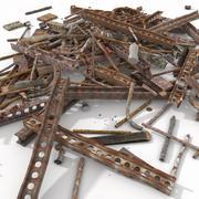 Metallic Rusty Girder Balken Rusty Junk Puin werf afval dump afval vuilnis verwijdering schroot sloop schroothoop schroothoop diverse oorlog autokerkhof (2) 3d model