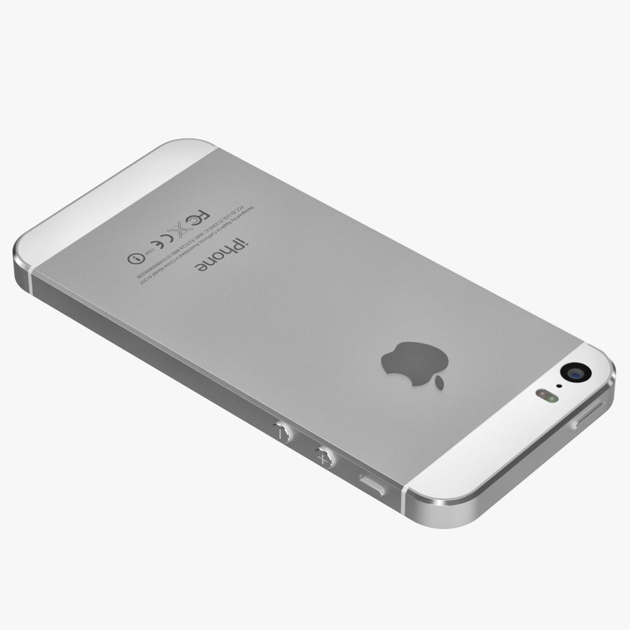 Apple iPhone 5S royalty-free 3d model - Preview no. 4