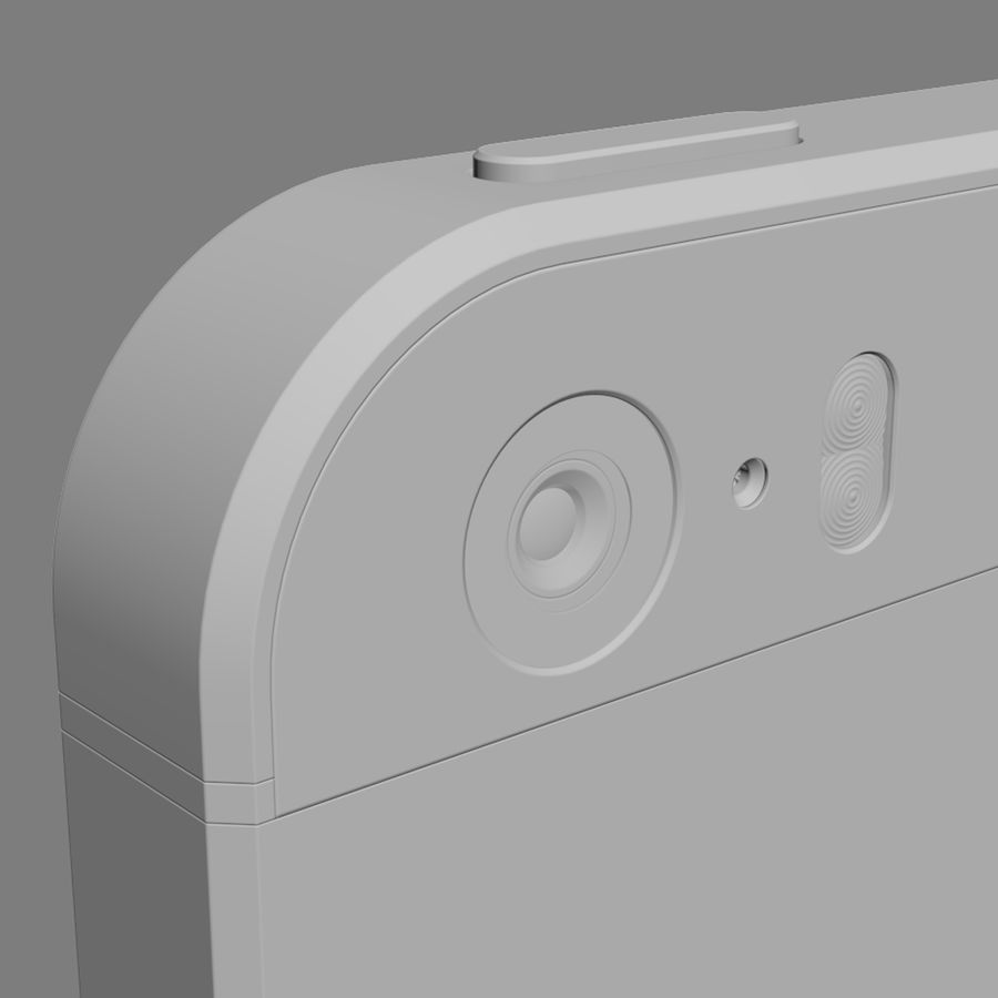 Apple iPhone 5S royalty-free 3d model - Preview no. 15