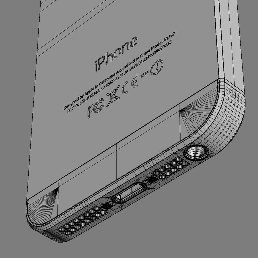 Apple iPhone 5S royalty-free 3d model - Preview no. 18