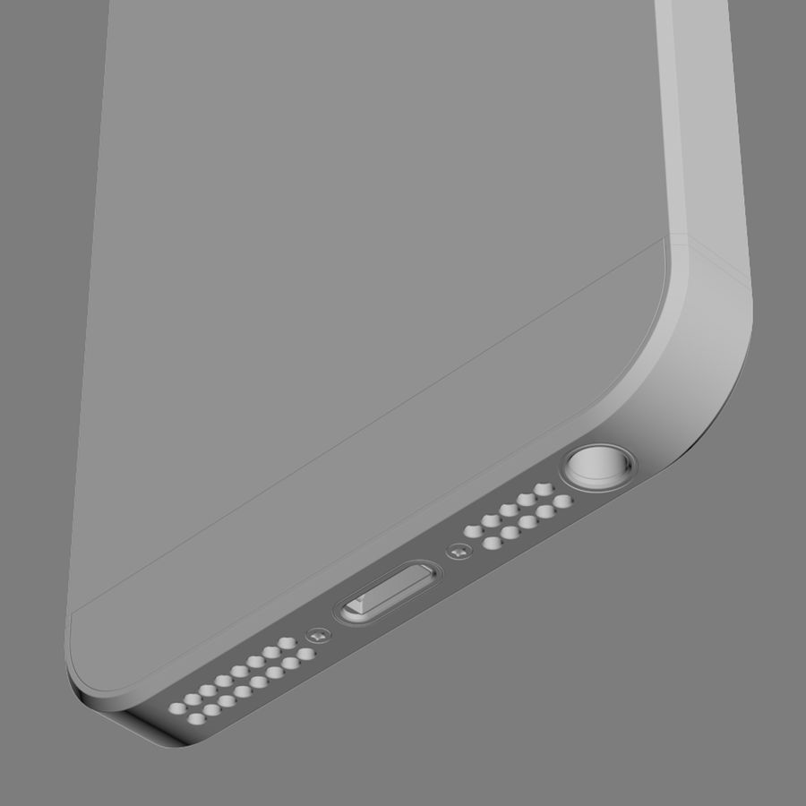 Apple iPhone 5S royalty-free 3d model - Preview no. 19
