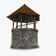 Slott medeltida vattenbrunn 3d model