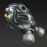 Sci Fiガスマスクヘルメット 3d model