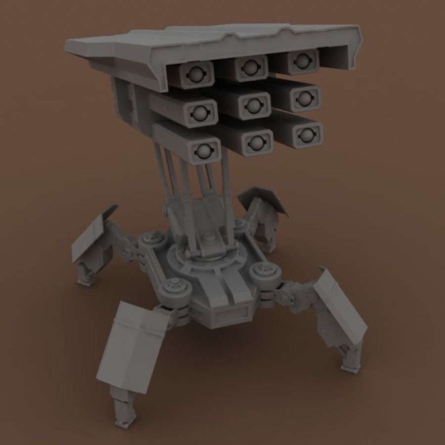 Walker Rocket Launcher royalty-free 3d model - Preview no. 20