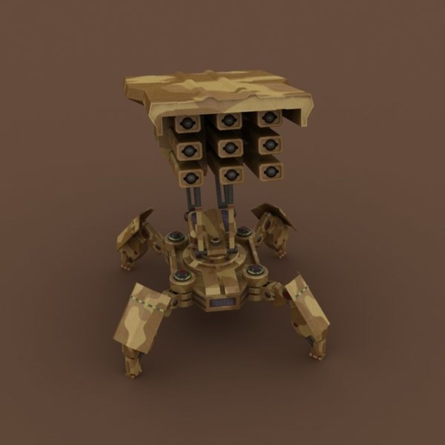 Walker Rocket Launcher royalty-free 3d model - Preview no. 10