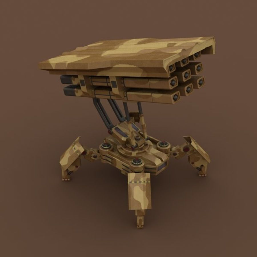 Walker Rocket Launcher royalty-free 3d model - Preview no. 9