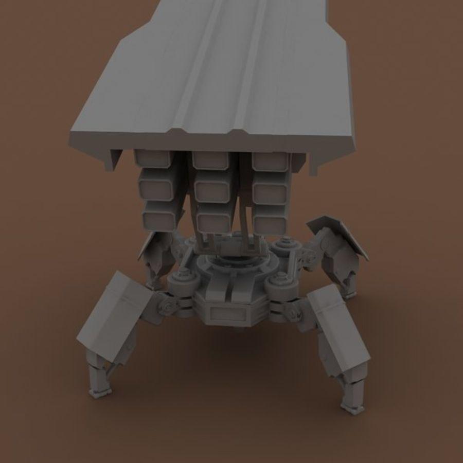 沃克火箭发射器 royalty-free 3d model - Preview no. 23