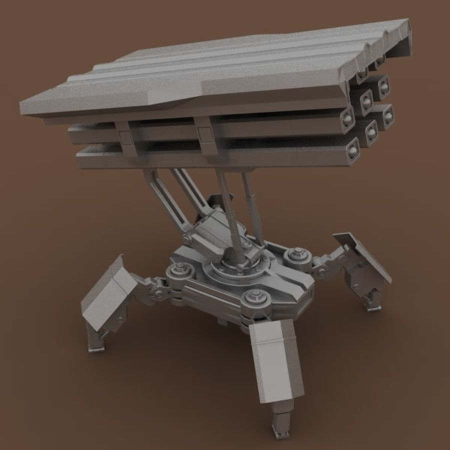 Walker Rocket Launcher royalty-free 3d model - Preview no. 14