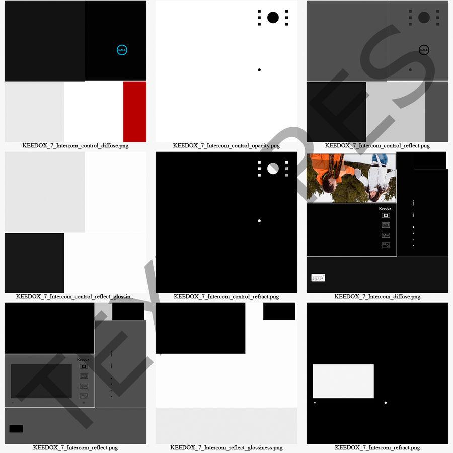 비디오 인터콤 KEEDOX 세트 royalty-free 3d model - Preview no. 37