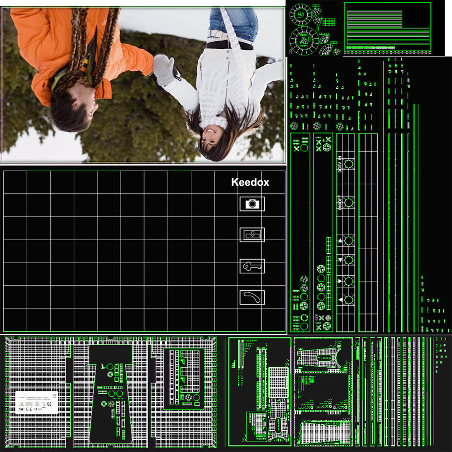 비디오 인터콤 KEEDOX 세트 royalty-free 3d model - Preview no. 36