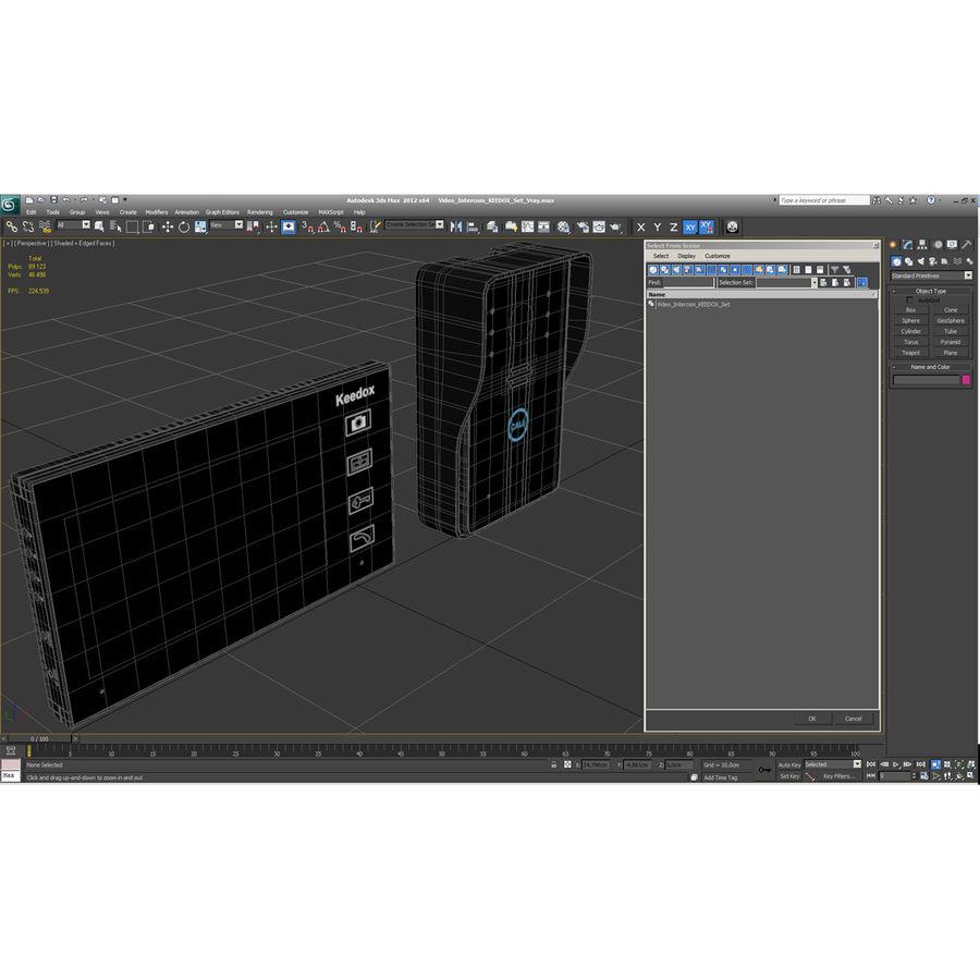 비디오 인터콤 KEEDOX 세트 royalty-free 3d model - Preview no. 38