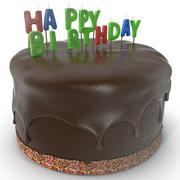 Торт ко дню рождения 2 3d model