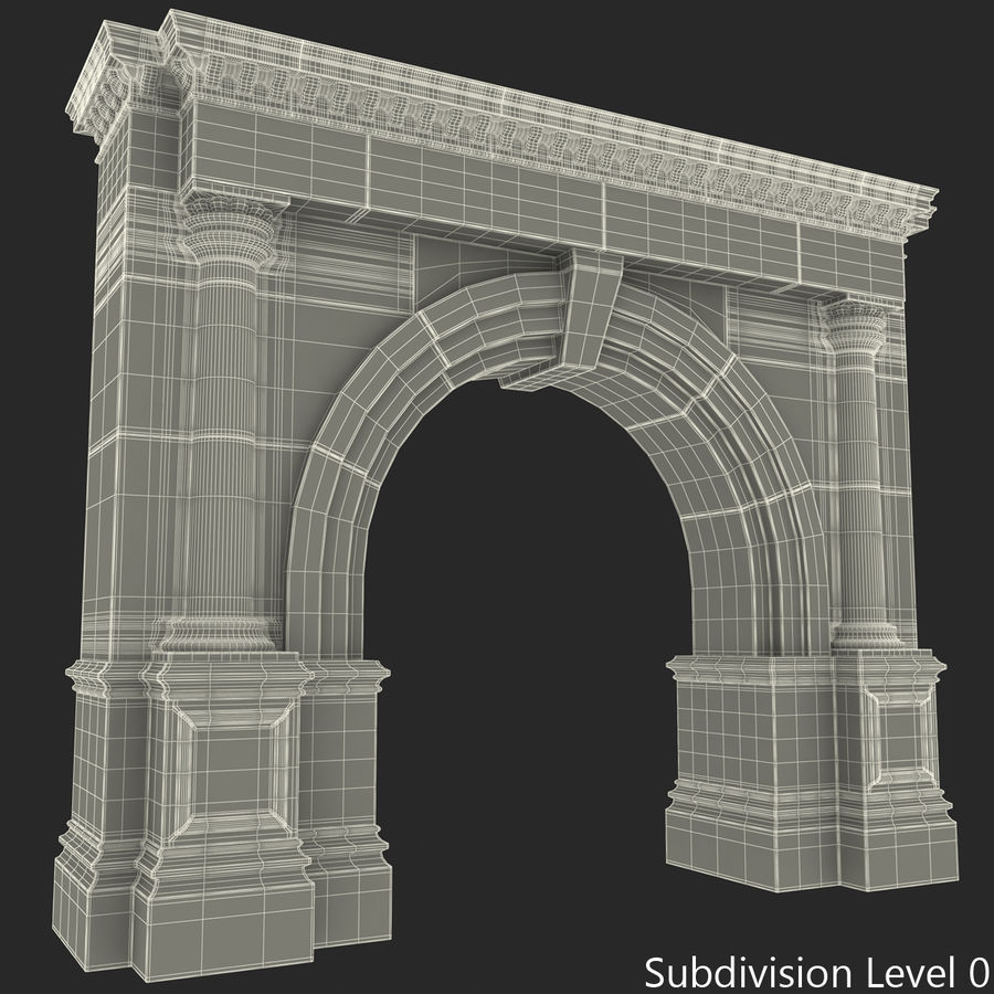 Architectural Arch royalty-free 3d model - Preview no. 25
