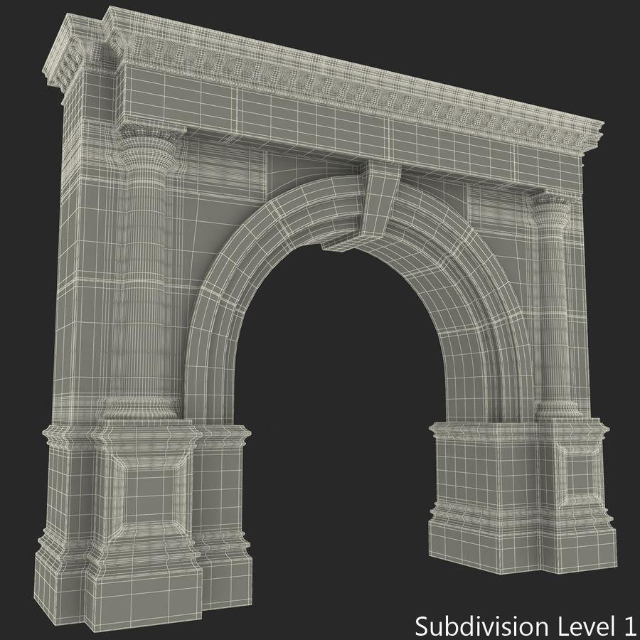 建築のアーチ royalty-free 3d model - Preview no. 5