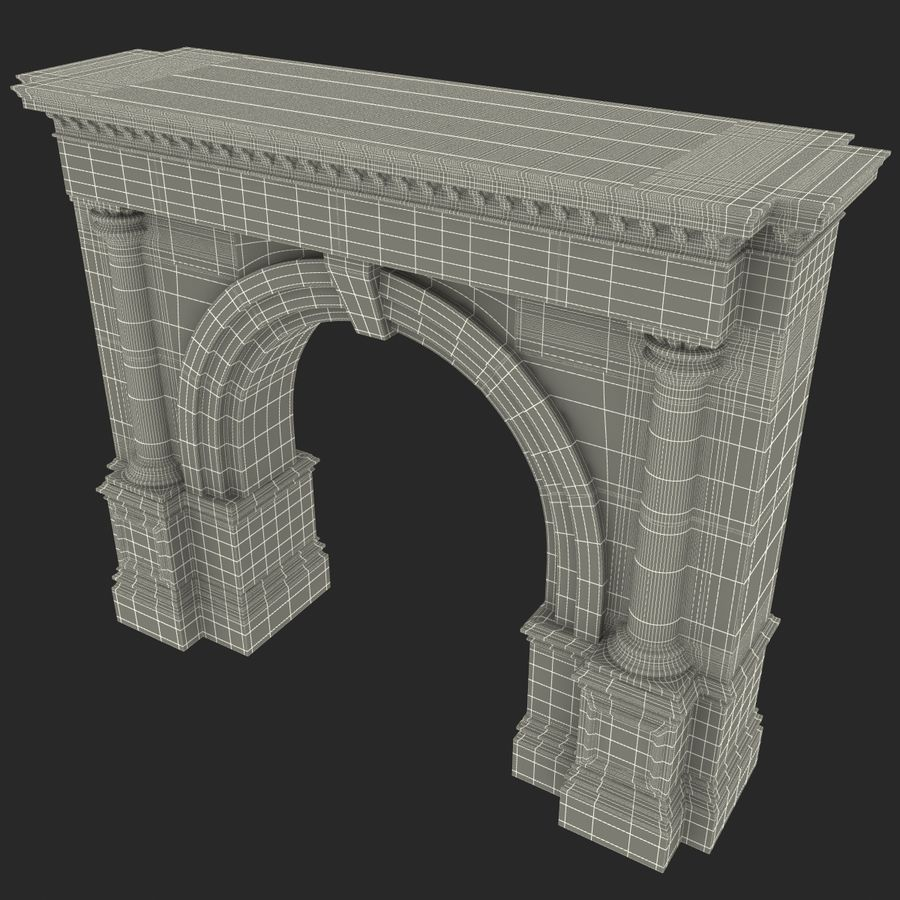 Architectural Arch royalty-free 3d model - Preview no. 23