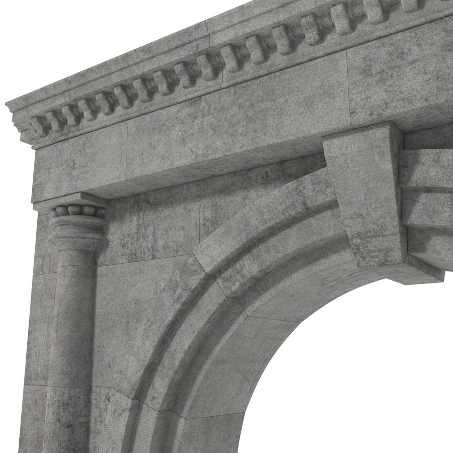 Architectural Arch royalty-free 3d model - Preview no. 17