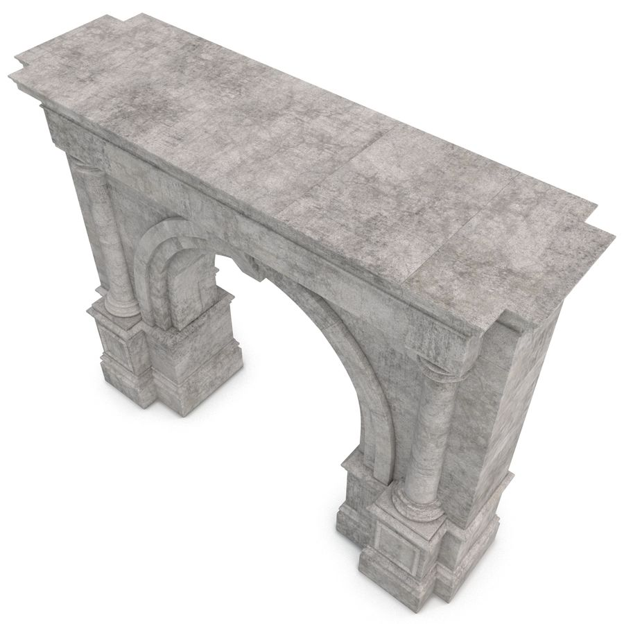Architectural Arch royalty-free 3d model - Preview no. 10