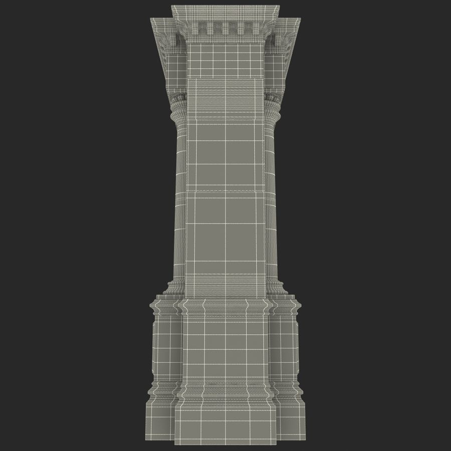 Architectural Arch royalty-free 3d model - Preview no. 19