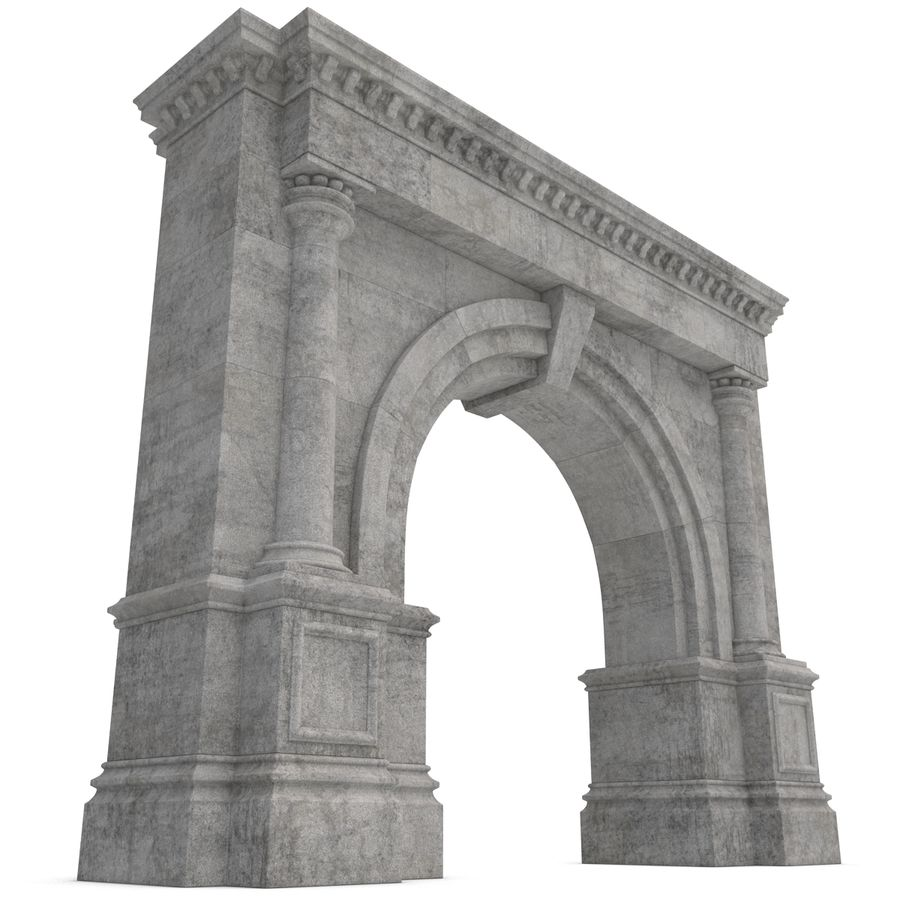 Architectural Arch royalty-free 3d model - Preview no. 9