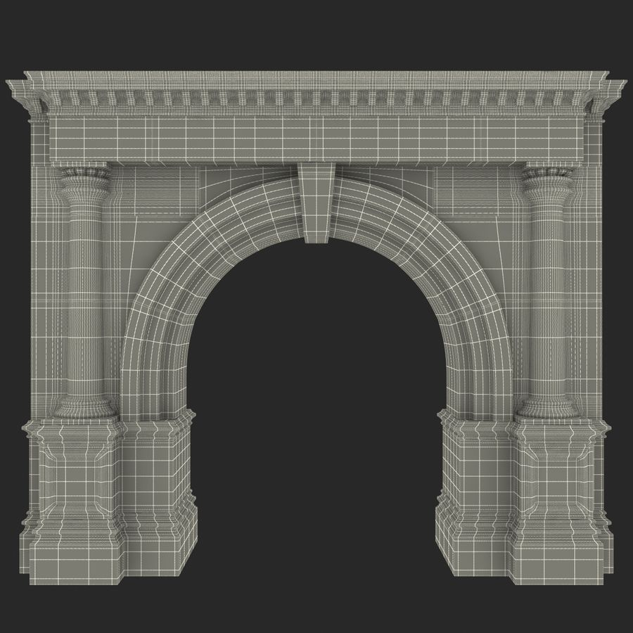 Architectural Arch royalty-free 3d model - Preview no. 20