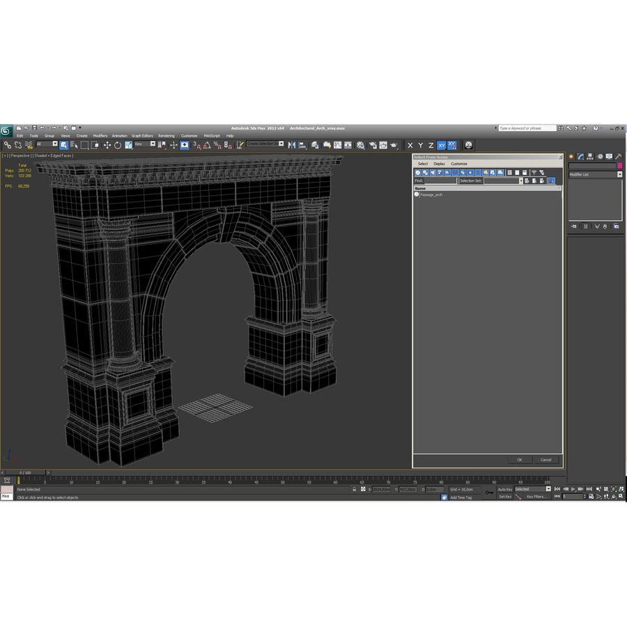 Architectural Arch royalty-free 3d model - Preview no. 8
