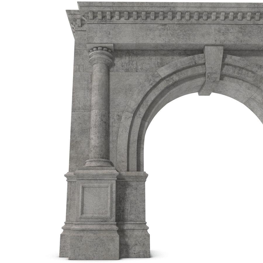 Architectural Arch royalty-free 3d model - Preview no. 11