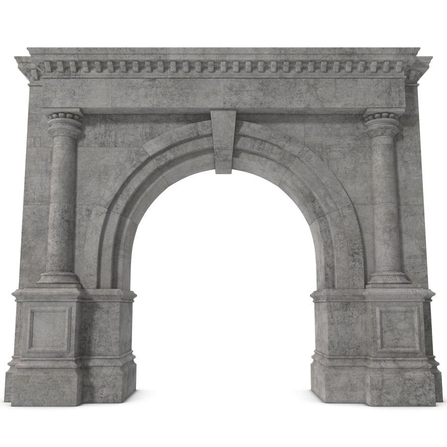 Architectural Arch royalty-free 3d model - Preview no. 4