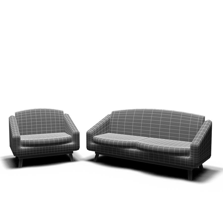 juego de muebles royalty-free modelo 3d - Preview no. 13