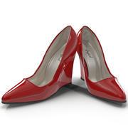 Zapatos de tacón con cuña 2 modelo 3d