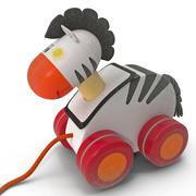 Toy Zebra Pull Along 3d model