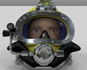 casco de buceo modelo 3d