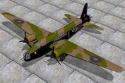 비커스 웰링턴 BX 3d model
