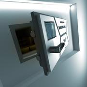 Cassaforte a muro futuristica 3d model