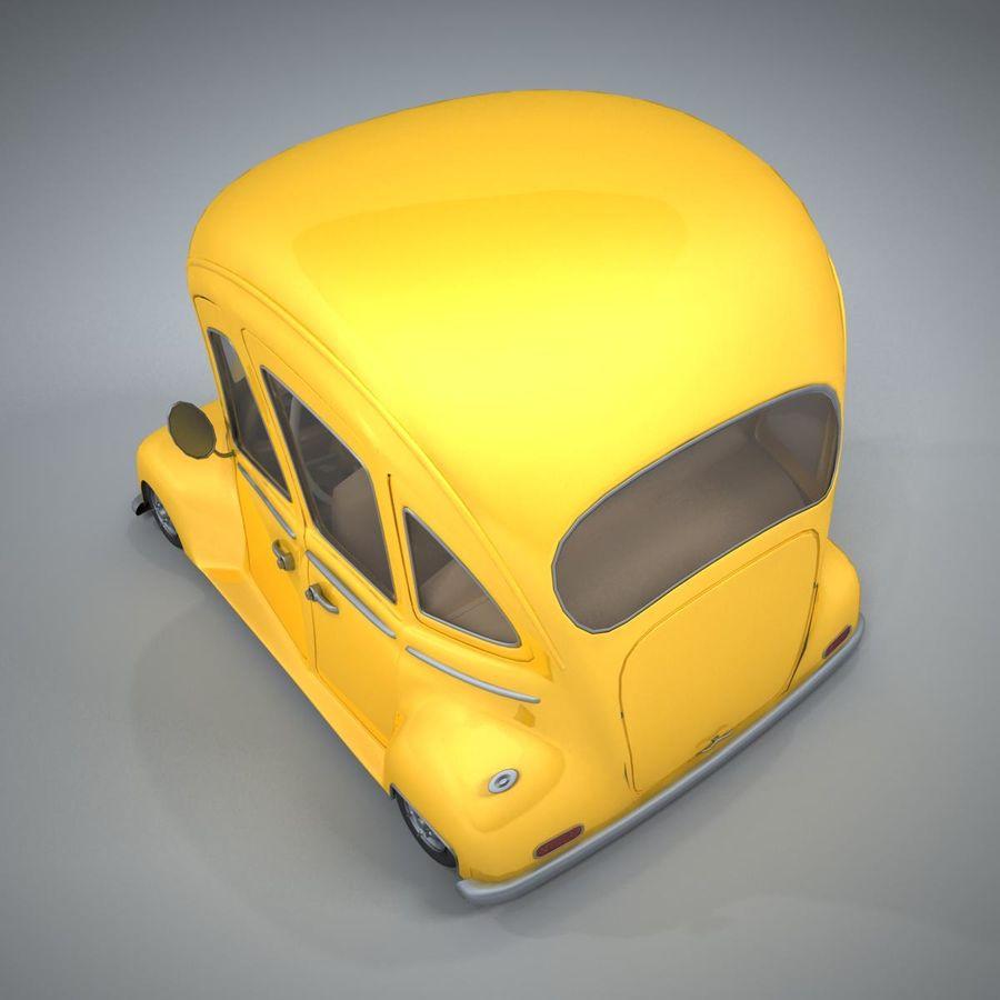 Antik tecknad bil royalty-free 3d model - Preview no. 10