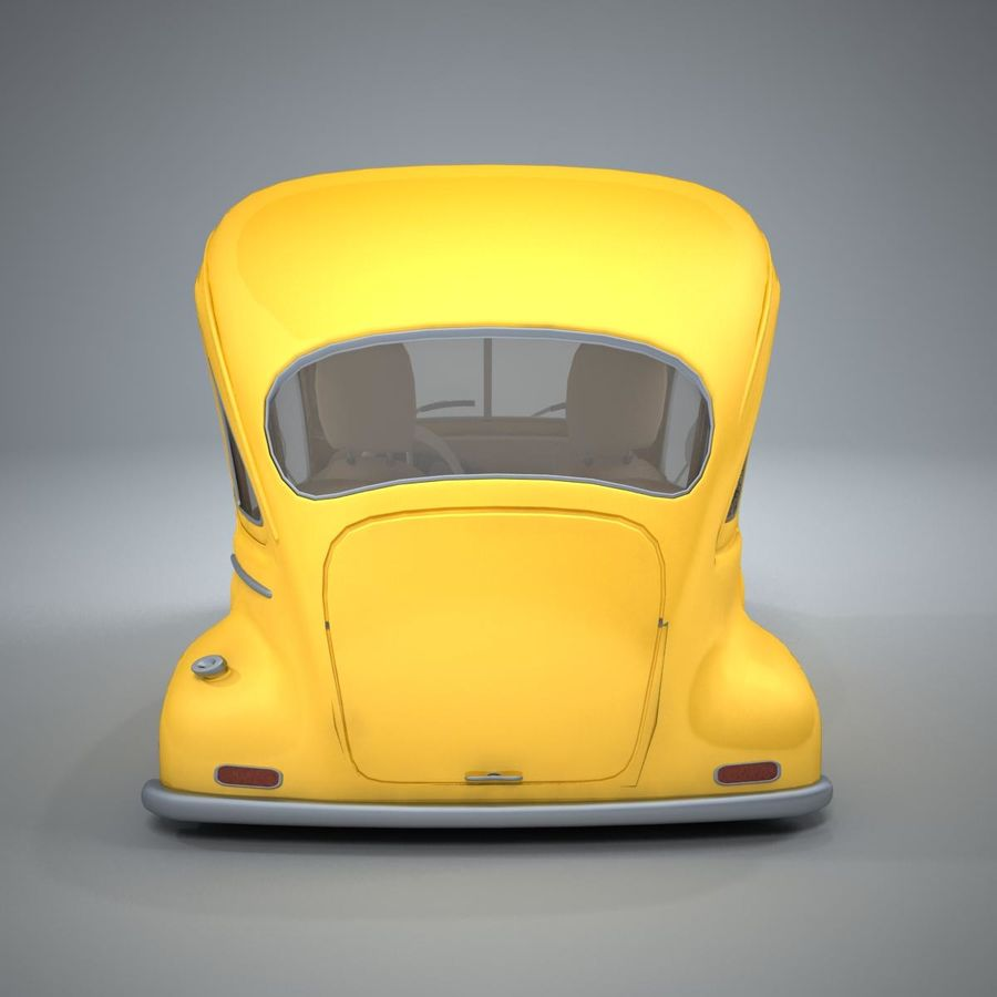 アンティーク漫画車 royalty-free 3d model - Preview no. 4