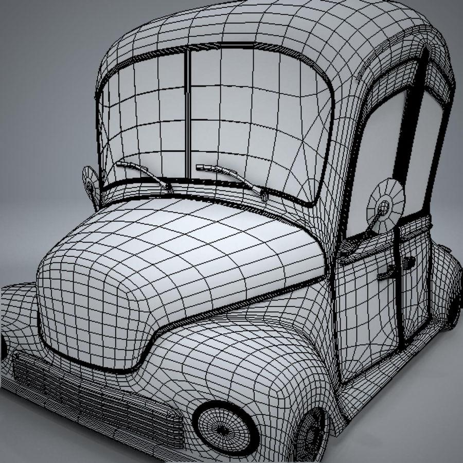 アンティーク漫画車 royalty-free 3d model - Preview no. 19