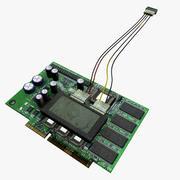 PCB-Leiterplatte 3d model