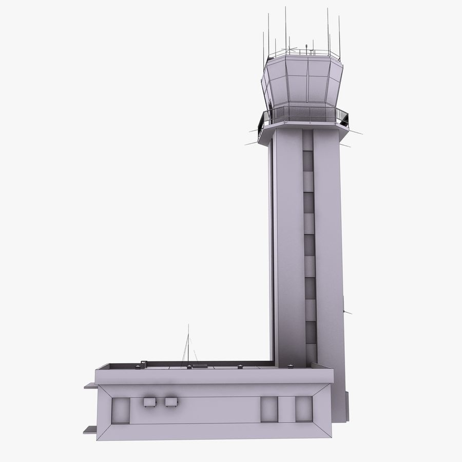 Air Traffic Control Tower royalty-free 3d model - Preview no. 11