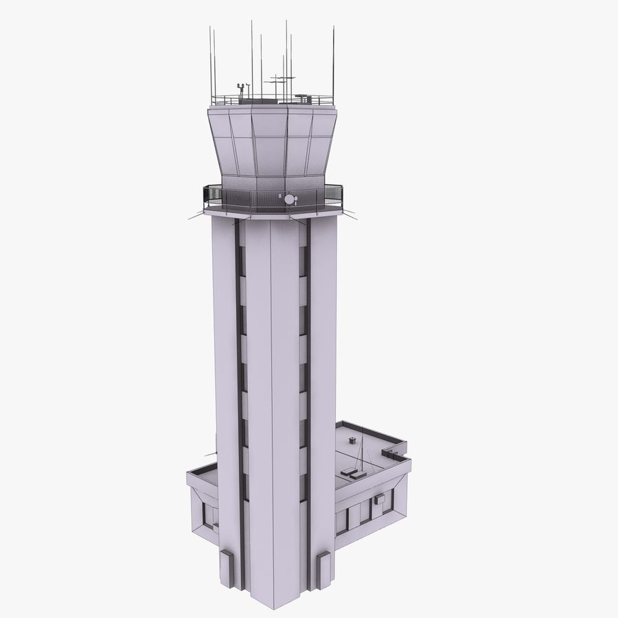 Air Traffic Control Tower royalty-free 3d model - Preview no. 13