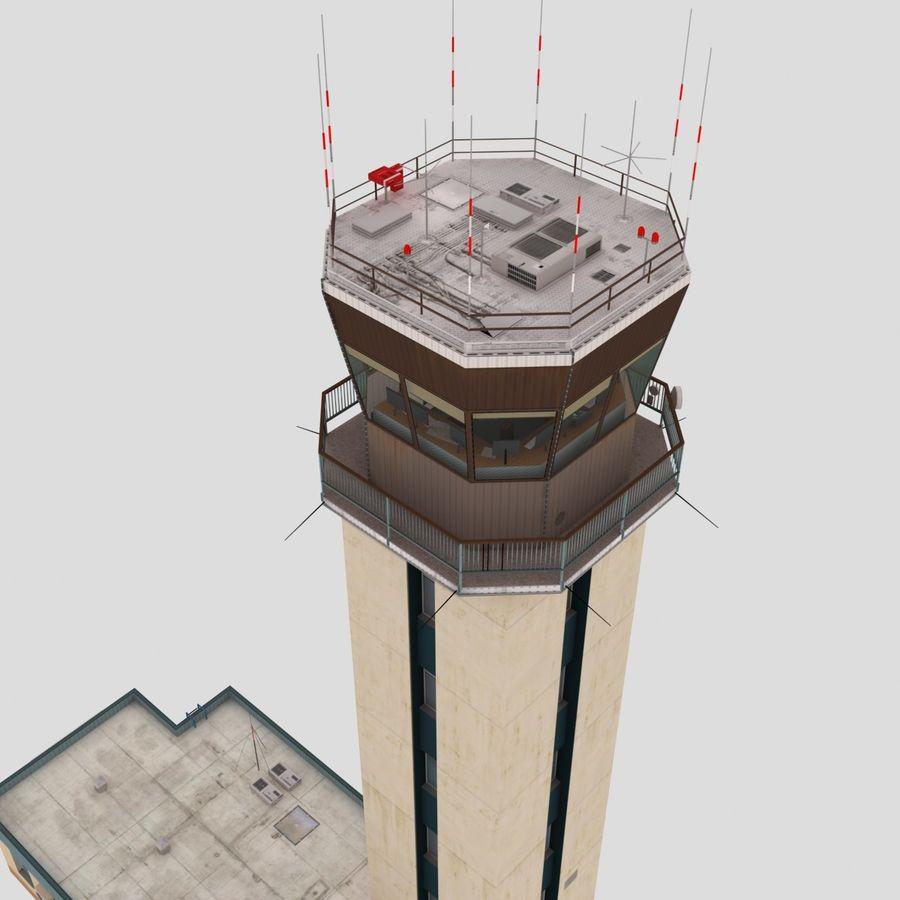 Tour de contrôle du trafic aérien royalty-free 3d model - Preview no. 7